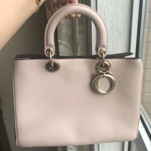 Dior Handbags - Bullcalf Small Diorissimo Rose Poudre